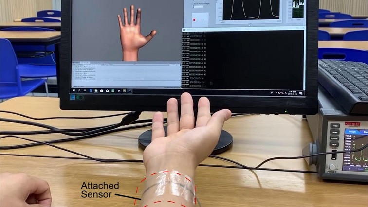 Body Movements Identification Using Deep-learning and Powered Skin Sensors