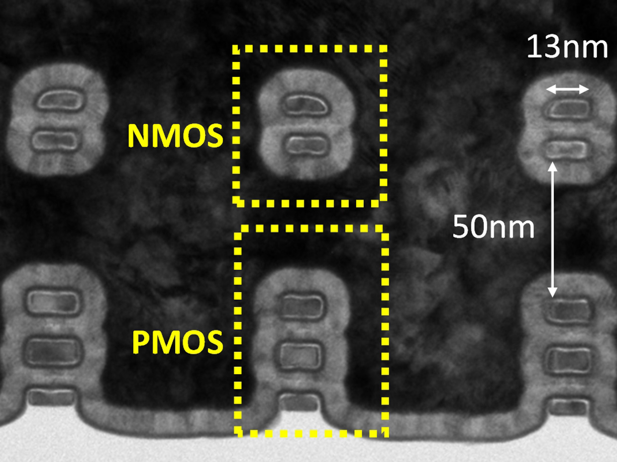 NMOS and PMOS devices usually sit side-by-side on chips